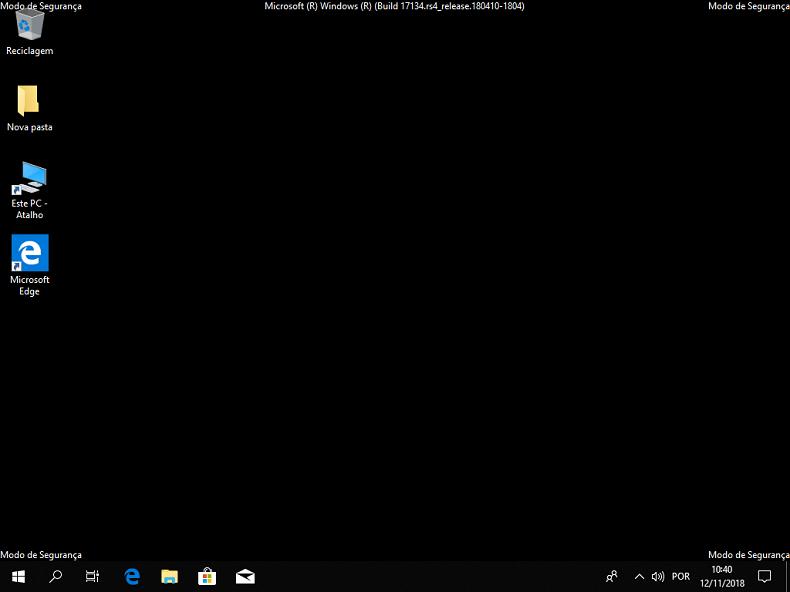 modo de segurança do Windows 10