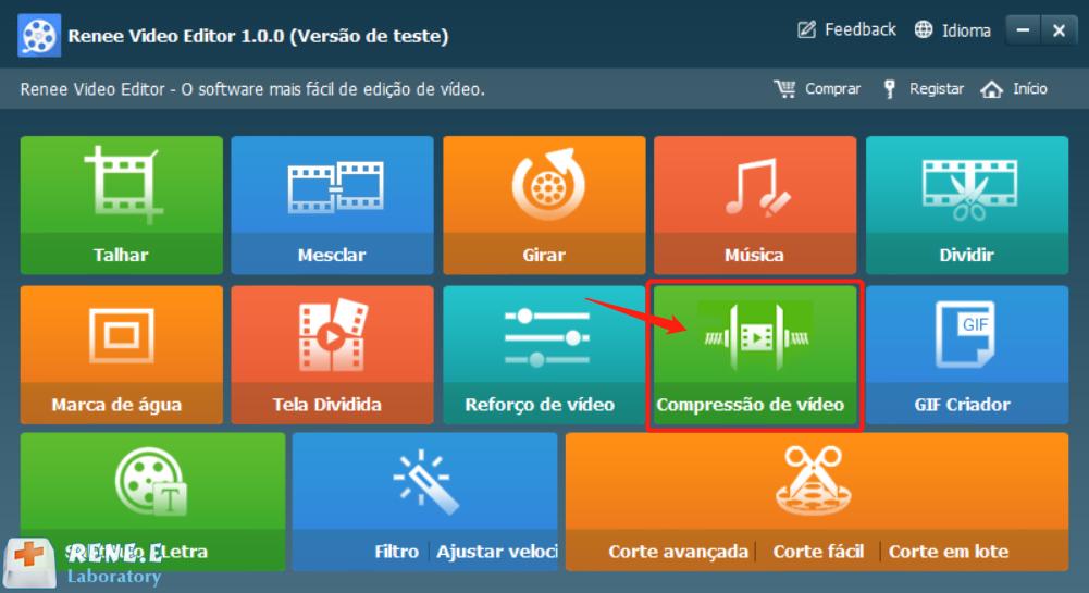Função compressão de vídeo
